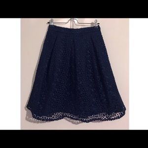 NWOT 💙 Boden Lace A-Line Skirt in Navy